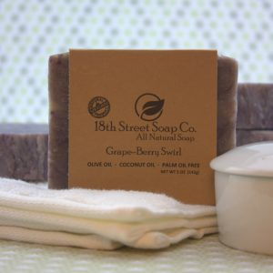 Grape-Berry Swirl Soap